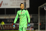 Goalkeeper Ryan Clarke (31) of Eastleigh during the The FA Cup match between Eastleigh and Swindon Town at Arena Stadium, Eastleigh, United Kingdom on 4 November 2016. Photo by Graham Hunt.