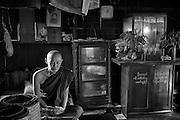 U Pa Ka Ta - in his monastery at Myanmar Ah Lin Kyaung, Mandalay Road, Minglar Taung Nyunt, Yangon.