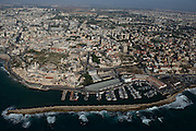 Aerial Photography of Jaffa port, Israel