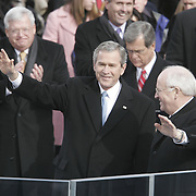 President Bush and Vice President Cheney after their swearing-in Jan. 20, 2005, at the US Capitol in Washington, DC...Photo by Khue Bui..