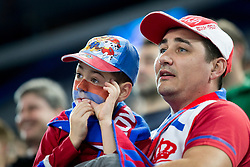 Supporters of National team of Serbia during futsal quarter-final match between National teams of Kazakhstan and Serbia at Day 7 of UEFA Futsal EURO 2018, on February 5, 2018 in Arena Stozice, Ljubljana, Slovenia. Photo by Urban Urbanc / Sportida