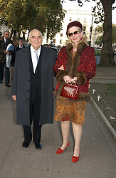 LORD & LADY WEIDENFELD at the wedding of Clementine Hambro to Orlando Fraser at St.Margarets Westminster Abbey, London on 3rd November 2006.<br />