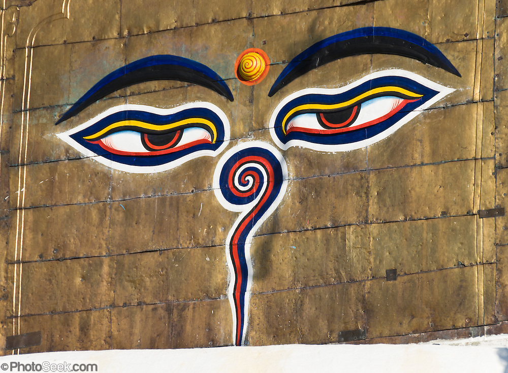 Buddha Eyes Swayambhunath The Quotmonkey Templequot Nepal