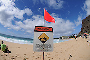 November 4th 2010: Beach sign during the final day of competition of the ASP World Longboard Championship at Makaha Oahu-Hawaii. Photo by Matt Roberts/mattrIMAGES.com.au