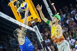 Nejc Zemljak and Blaz Jakopin of Slovenia at Beach Volleyball Challenge Ljubljana 2019, on August 4, 2019 in Kongresni trg, Ljubljana, Slovenia. Photo by Grega Valancic / Sportida