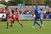 AFC Wimbledon striker Joe Pigott (39) scoring goal to make it 1-0 during the EFL Sky Bet League 1 match between AFC Wimbledon and Sunderland at the Cherry Red Records Stadium, Kingston, England on 25 August 2018.