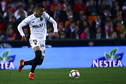 February 28, 2019 - Valencia, Spain - Rodrigo Moreno of Valencia CF During Spanish King La Copa match between  Valencia cf vs Real Betis Balompie Second leg  at Mestalla Stadium on February 28, 2019. (Photo by Jose Miguel Fernandez/NurPhoto) (Credit Image: © Jose Miguel Fernandez/NurPhoto via ZUMA Press)