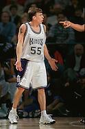 Sacramento Kings guard Jason Williams contests a referee's foul call on him during the first half of the game against the Boston Celtics on Tuesday, February 16, 1999 at Arco Arena. The referee's decision was not reversed and the foul was assessed to to Williams.