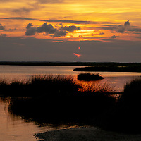 General view overlooking the Currituck Sound in the Corolla section of the Outer Banks, North Carolina, USA