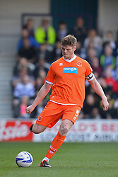 Blackpool's defender Gary MacKenzie  - Photo mandatory by-line: Mitchell Gunn/JMP - Tel: Mobile: 07966 386802 29/03/2014 - SPORT - FOOTBALL - Loftus Road - London - Queens Park Rangers v Blackpool - Championship