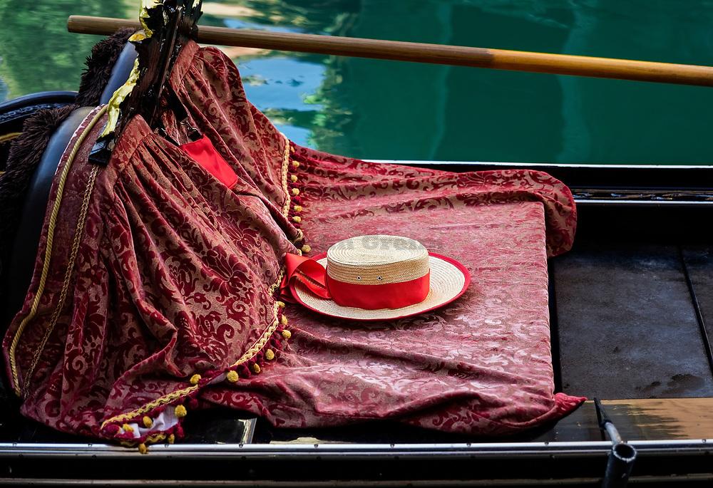 Gondola detail, Venice, Italy