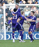 Photo: Steve Bond/Richard Lane Photography. West Bromwich Albion v Newcastle United. Barclays Premiership. 07/02/2009. Peter Lovenkrands celebrates the second goal