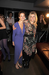 Left to right, LEAH WOOD and her mother JO WOOD at the Quintessentially Models party and fashion show at Whisky Mist, 35 Hertford Street, London W1 on 10th September 2008.
