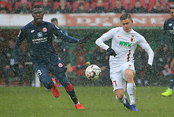 03.02.2019, 1.BL, 20. Spieltag, FC Augsburg vs Mainz 05, WWK Arena Augsburg, Fussball, Sport, im Bild:..Moussa Niakhate v vs Alfred Finnbogason (FC Augsburg)..DFL REGULATIONS PROHIBIT ANY USE OF PHOTOGRAPHS AS IMAGE SEQUENCES AND / OR QUASI VIDEO...Copyright: Philippe Ruiz..Tel: 089 745 82 22.Handy: 0177 29 39 408.e-Mail: philippe_ruiz@gmx.de (Credit Image: © Philippe Ruiz/Xinhua via ZUMA Wire)