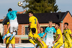 Jon Stankovic and Ziga Lipuscek of Slovenia during football match between Slovenia and Kazahstan in Qualifying round for European Under-21 Championship 2019, on September 11, 2018 in Mestni Stadium Ptuj, Slovenija, 2018. Photo Grega Valancic