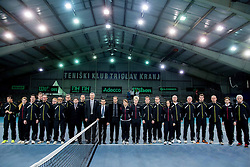 Referees after the 5th match of Davis cup Slovenia vs. Portugal on February 2, 2014 in Kranj, Slovenia. Photo by Vid Ponikvar / Sportida