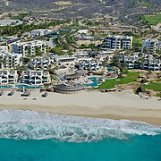 Aerial view of The Rosewood hotel Ventanas al Paraiso. Los Cabos. Baja California Sur, Mexico.