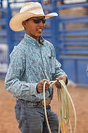 "Kayenta 4th of july Rodeo, ""#9 Inc Team Roping, 2017 Champion"", Brandon Ben, 15 years old, Apache from San Carlos Reservation"