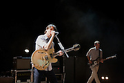 "Vampire Weekend perform on September 3, 2010 in support of ""Contra"" at Red Rocks Amphitheater in Morrison, Colorado."