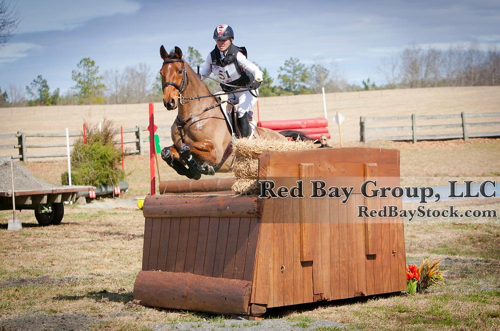 Jessica Phoenix and Abbey GS at the 2014 Pine Top Farm Advanced Horse Trials in Thomson, Georgia.