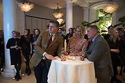 NEIL BUGLER; LYNDEN BUGLER, JEREMY HACKETT;  The Datai Langkawi Relaunch event, Spring, Somerset House,  London. 1 March 2018
