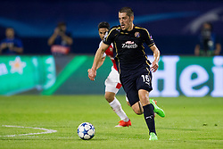 Arijan Ademi #16 of GNK Dinamo Zagreb during football match between GNK Dinamo Zagreb, CRO and Arsenal FC, ENG in Group F of Group Stage of UEFA Champions League 2015/16, on September 16, 2015 in Stadium Maksimir, Zagreb, Croatia. Photo by Urban Urbanc / Sportida