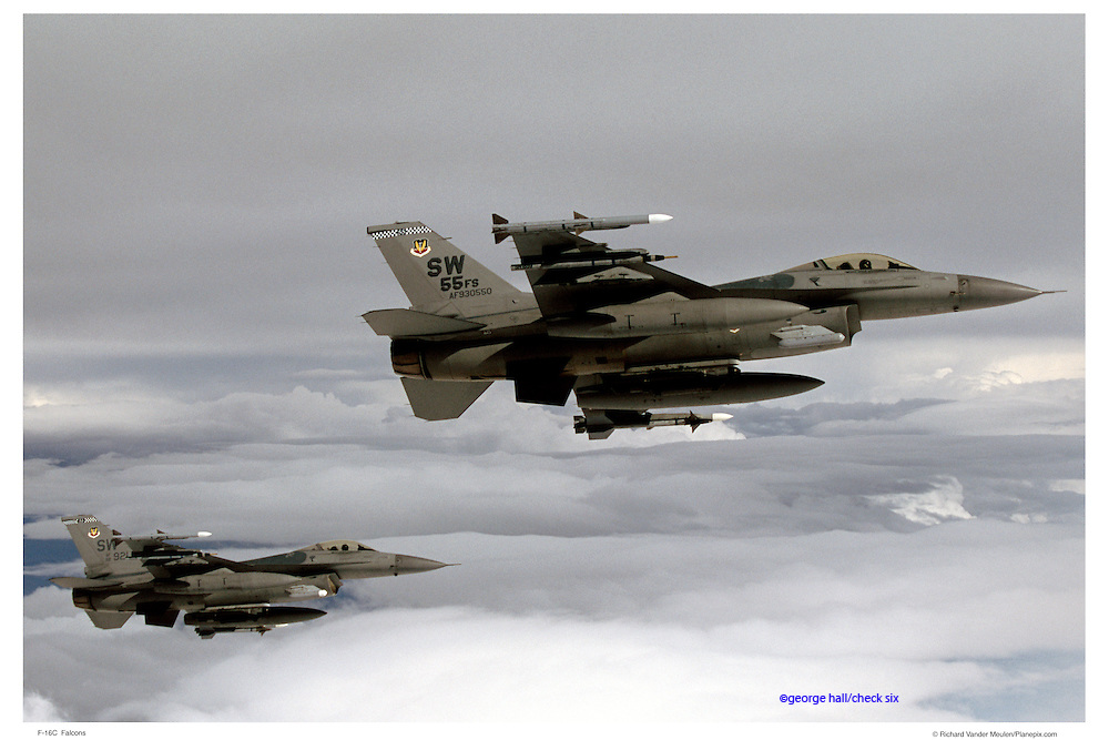F-16Cs, air-to-air