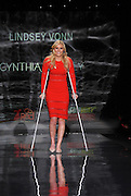 Lindsey Vonn walks the runway at the Go Red For Women The Heart Truth Red Dress Collection 2014, made possible by Macy's and SUBWAY Restaurants, Thursday, Feb. 6, 2014, during Fashion Week in New York.  (Photo by Diane Bondareff for Go Red For Women)