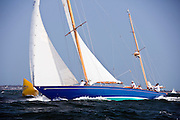 Nirvana sailing in the Museum of Yachting Classic Yacht Regatta.