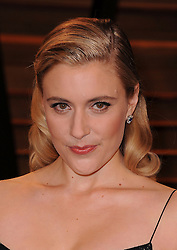 Greta Gerwig arrives at the 2014 Vanity Fair Oscar Party in West Hollywood, California, USA,  Sunday, 2nd March 2014. Picture by Hollywood Bubbles / i-Images<br /> UK ONLY