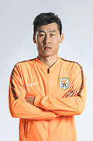**EXCLUSIVE**Portrait of Chinese soccer player Li Wei of Shandong Luneng Taishan F.C. for the 2018 Chinese Football Association Super League, in Ji'nan city, east China's Shandong province, 24 February 2018.