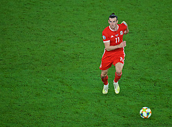 CARDIFF, WALES - Friday, September 6, 2019: Wales' captain Gareth Bale during the UEFA Euro 2020 Qualifying Group E match between Wales and Azerbaijan at the Cardiff City Stadium. (Pic by Paul Greenwood/Propaganda)