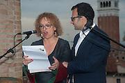 CAROLYN CHRISTOV-BAKARGIEV; VADIM GRIGORIAN, Absolut Art Bureau cocktails and dinner to celebrate the announcement of the 2013 Absolut Art Award shortlist. Bauer Hotel, San Marco. Venice. Venice Bienalle. 28 May 2013