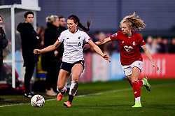 Sophie Bradley-Auckland of Liverpool Women is marked by Katie Robinson of Bristol City - Mandatory by-line: Ryan Hiscott/JMP - 19/01/2020 - FOOTBALL - Stoke Gifford Stadium - Bristol, England - Bristol City Women v Liverpool Women - Barclays FA Women's Super League