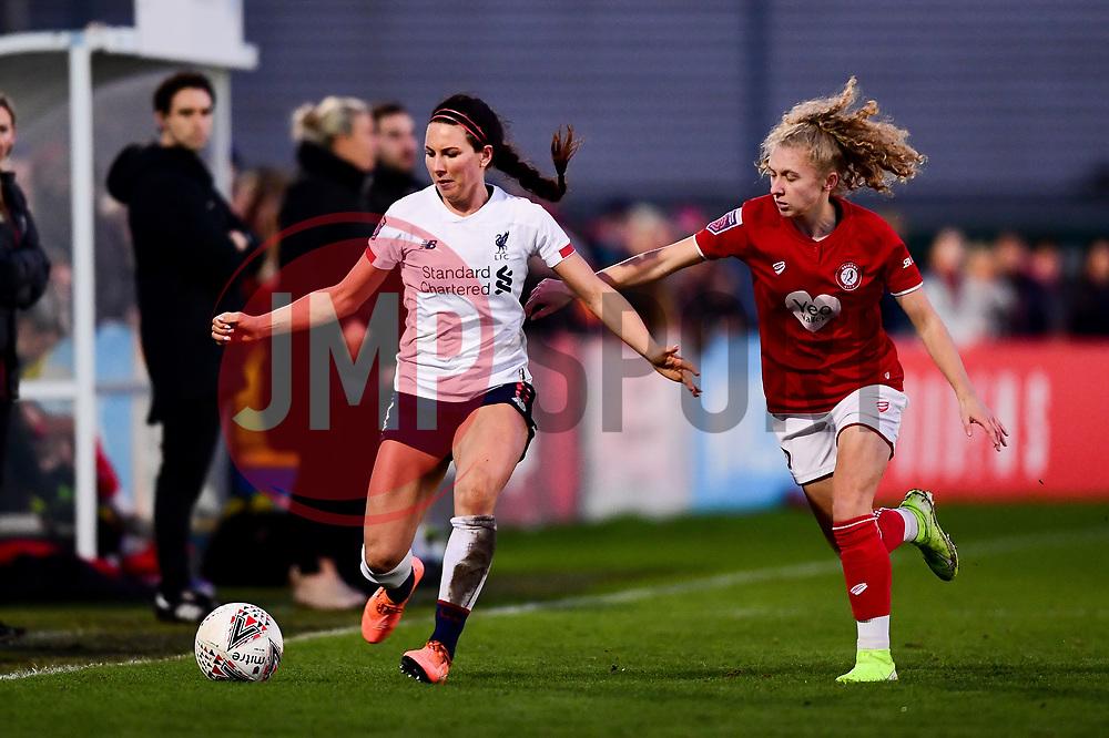 Sophie Bradley-Auckland of Liverpool Women is marked by Katie Robinson of Bristol City - Mandatory by-line: Ryan Hiscott/JMP - 19/01/2020 - FOOTBALL - Stoke Gifford Stadium - Bristol, England - Bristol City Women v Liverpool Women - Barclays FA Women's Super League