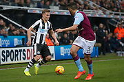 Newcastle United midfielder Matt Ritchie (11)  during the EFL Sky Bet Championship match between Newcastle United and Aston Villa at St. James's Park, Newcastle, England on 20 February 2017. Photo by Simon Davies.
