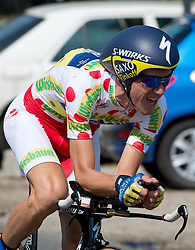 06.07.2013, AUT, 65. Oesterreich Rundfahrt, 7. Etappe, Podersdorf, Einzelzeitfahren im Bild #74 Chris Anker Sörensen, DEN, Team Saxo – Tinkoff // during the 65th Tour of Austria, Stage 7, Podersdorf, Timetrail, Austria on 2013/07/06. EXPA Pictures © 2013, PhotoCredit: EXPA/ R. Eisenbauer