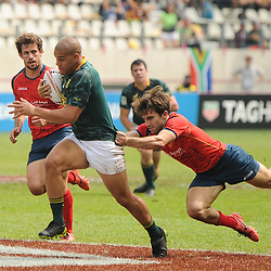 Zain Davids of South Africa during the match between South Africa and Spain at the HSBC Paris Sevens, stage of the Rugby Sevens World Series at Stade Jean Bouin on June 10, 2018 in Paris, France. (Photo by Sandra Ruhaut/Icon Sport)
