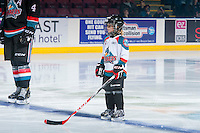 KELOWNA, CANADA - OCTOBER 26: The Pepsi Save on Foods Player of the Game lines up with the Kelowna Rockets on October 26, 2016 at Prospera Place in Kelowna, British Columbia, Canada.  (Photo by Marissa Baecker/Shoot the Breeze)  *** Local Caption ***
