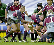 Photo - Peter Spurrier.25/01/03.Powergen Cup Quarter Final London Irish v Rotherham.Jacob Rauluni.