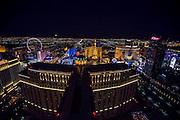 Moon rising over the the Strip, Las Vegas, Nevada, USA