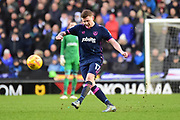 Portsmouth midfielder Dion Donohue (17) passes during the EFL Sky Bet League 1 match between Milton Keynes Dons and Portsmouth at stadium:mk, Milton Keynes, England on 10 February 2018. Picture by Dennis Goodwin.