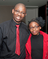 Avaya singers Oludare and Shalom Olorunfemi, who took part in the Choir Factor 2014 in the Radisson blu Hotel, Galway in aid of SCCUL Sanctuary at Kilcuan, Clarinbridge . Photo:Andrew Downes.