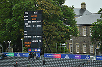 Cricket - 2019 ICC Cricket World Cup - Group Stage: Bangladesh vs. Sri Lanka<br /> <br /> The scoreboard showing the delay to the pitch inspection, at County Ground, Bristol.<br /> <br /> COLORSPORT/ASHLEY WESTERN