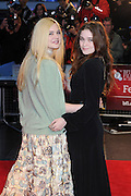 13.OCTOBER.2012. LONDON<br /> <br /> ELLE FANNING AND ALICE ENGLERT ATTEND THE PREMIERE OF 'GINGER AND ROSA' DURING THE 56TH BFI LONDON FILM FESTIVAL AT THE ODEON CINEMA, LEICESTER SQUARE.<br /> <br /> BYLINE: EDBIMAGEARCHIVE.CO.UK<br /> <br /> *THIS IMAGE IS STRICTLY FOR UK NEWSPAPERS AND MAGAZINES ONLY*<br /> *FOR WORLD WIDE SALES AND WEB USE PLEASE CONTACT EDBIMAGEARCHIVE - 0208 954 5968*