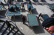 Outdoor pool tables in Hotan, Xinjiang