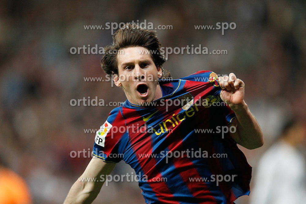MADRID (10/04/2010).- Spanish League match Real Madrid vs Barcelona. Messi goal. EXPA Pictures © 2010, PhotoCredit: EXPA/ Alterphotos/ Cesar Cebolla / SPORTIDA PHOTO AGENCY