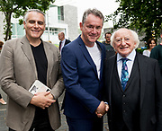 21/07/2018 repro free: President Michael D. Higgins speaking at the First Thought Talks strand at Galway International Arts Festival on Saturday July 21 in the Bailey Allen Hall in NUI Galway. The President launched this year&rsquo;s talks series with a reflection on the theme of home, which is the main theme of the talks. <br /> <br /> The First Thought Talks programme at GIAF features a series of interviews, conversations and debate which will examine the theme of home, curated by historian and archivist Catriona Crowe. First Thought Talks 2018 features 18 talks from academics, activists, architects, reporters, poets and writers with 43 participants including President Michael D. Higgins, Catherine Corless, Andrew O&rsquo;Hagan, John Lanchester, Sarah Hickson, Liz Fekete, Roy Foster, Tomi Reichental, Mitchell Joachim, Paula Meehan, Lucy McDiarmid and Diarmuid Ferriter amongst an extensive number of leading international voices and journalists from around the world. For more see www.giaf.ie<br /> Pictures: Andrew Downes/Xposure