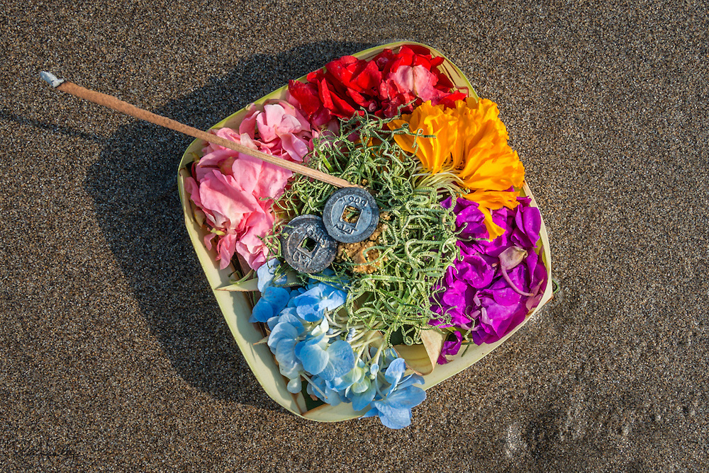 Balinese Offerings photographed throughout Bali, Indonesia