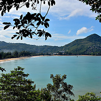 Elevated View of Kamala Beach in Phuket, Thailand<br />